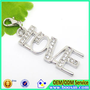 Fashion Alloy Custom Metal Crystal Love Charm Jewelry pictures & photos