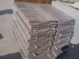 Hot Chinese Purple Wooden Sandstone Cultural Stone Stackstone pictures & photos