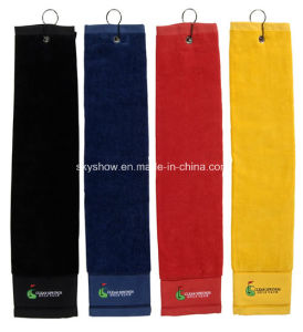 100% Cotton Custom Golf Towel with Hook (SST1001) pictures & photos