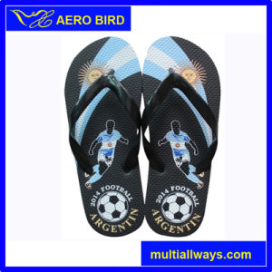 Wholesale Colorful Hot Print PE Male Footwear (14A197) pictures & photos