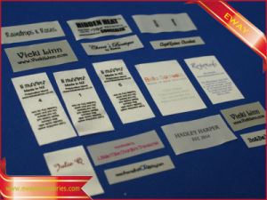 Clothing Washing Care Label Printed Satin Main Label pictures & photos