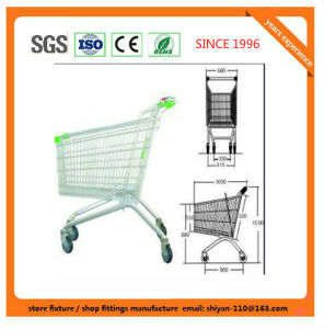 High Quality Shopping Trolley Manufacture 08011 Metal and Zinc/Galvanized/ Chrome Surface