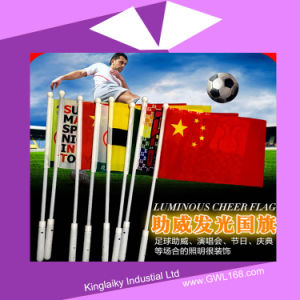 Customized Luminous Cheer Flag National Hand Flag for Promotion (KM-004) pictures & photos