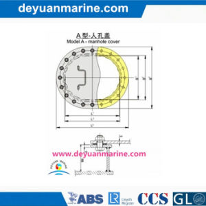 a Type Manhole Cover for Ship pictures & photos