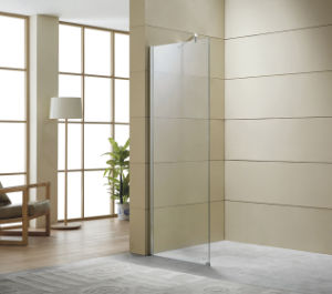 Popular Glass Shower Door/ Hot Selling Glass Shower Panel Walk-in Fixed Glass pictures & photos