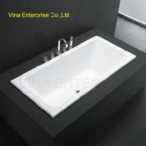 Straight Side Build in Good Quality Acrylic Bathtub