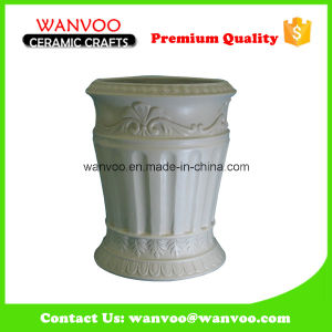 High Quality Vintage Embossed Ceramic Tumbler for Bathroom Decoration pictures & photos