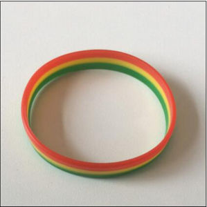 Professional Manufacture Layer Silicone Promotional Gift Bracelet pictures & photos