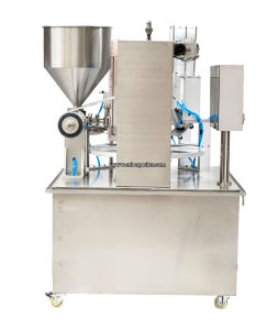 Milk Tea Mini Rotary Cup Filling Sealing Machine pictures & photos