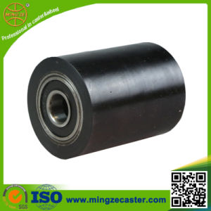 Black Polyurethane Hand Pallet Roller Wheel pictures & photos