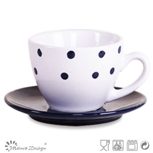3oz Ceramic Cup and Saucer pictures & photos
