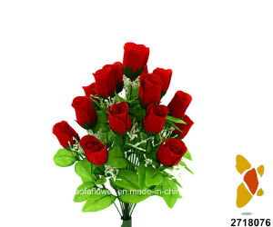 Artificial/Plastic/Silk Flower Rosebud Bush (2718076) pictures & photos