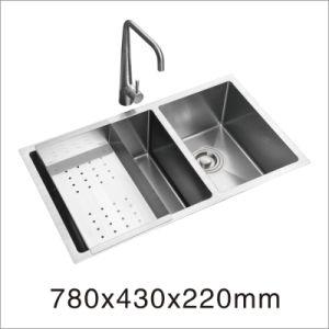 Kitchen Ware Stainless Steel Handmade Kitchenware Sink (7853s) pictures & photos