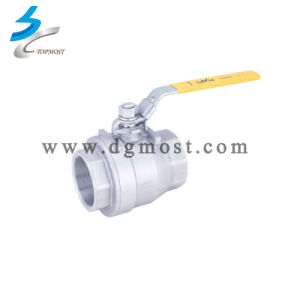 Economic 2 PCS 304 Precision Casting Full Bore Ball Valve pictures & photos