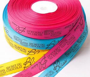 OEM Printed Polyester Satin Ribbon for Chocolate Box pictures & photos