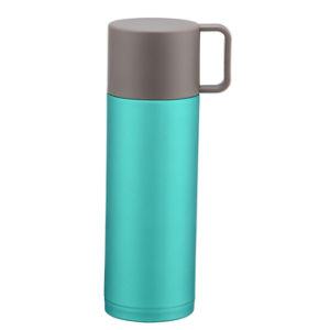 300ml 18/8 Colorful Stainless Steel Vacuum Flask with Cup pictures & photos