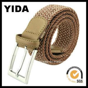 Fashion Brown Wide Webbing Woven Belt for Men (YD-15049)