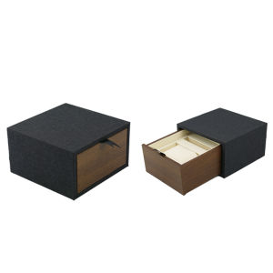 Fashion Sliding Wooden Watch Packing Box with Drawer pictures & photos