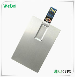 Metal Card USB Stick with Full Capacity as Promotional Gift (WY-C25) pictures & photos