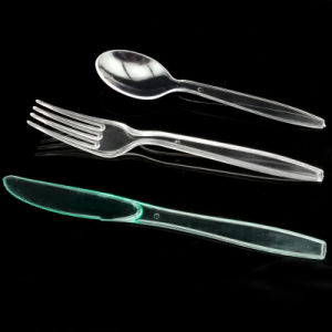 Plastic Disposable Spoon Knife and Fork Unit 19cm Cutlery Sets pictures & photos