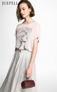 Fashion Print Pink Women T Shirt pictures & photos