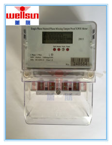 Single Phase Phase Missing Tamering Proof Eletricity Energy Meters pictures & photos