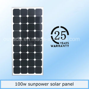 China Top One S/M-100W Sunpower Monocrystal Solar Panel pictures & photos