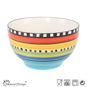14cm Ceramic Bowl Hand Painted Rainbow Color Design pictures & photos