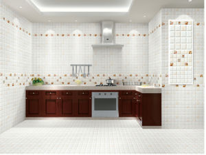 Polished Ceramics Flower Wall Tile pictures & photos