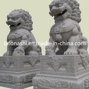 Cheap Garden Animal Carved Stone Sculpture with Outdoor Lion Statue pictures & photos