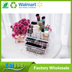 Acrylic Makeup Cosmetics Organizer 4 Drawers with Top Section pictures & photos