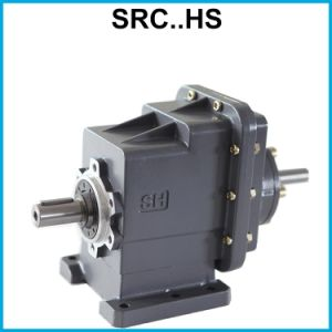 Footed Motor Two-Staged Speed Reduction Helical Gearbox Reducer