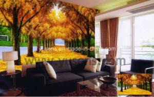 Factory Sell Poly-Silk Fabric Customized Printable Wallpaper pictures & photos