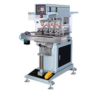 Pad Independently up/ Down 4 Color Shuttle Electric Pad Printing Machine