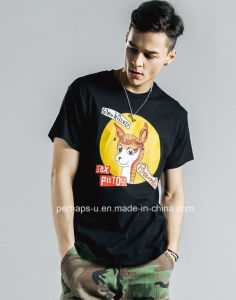 New Style Mens Crew Neck T-Shirt with Cartoon Printing pictures & photos