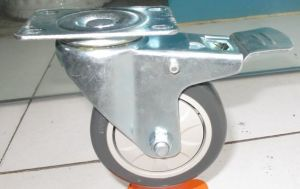 Grey Color Swivel Brake PVC Wheel pictures & photos