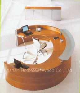 Unique Design Rchalf Round / Curved Reception Desk (LT-E408) pictures & photos