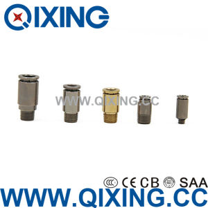 Metal Copper/ Stainless Steel Push to Connect Fittings Pneumatic Quick Connector pictures & photos