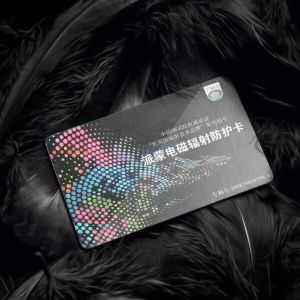 Black Emf Radiation Absorption Health Card