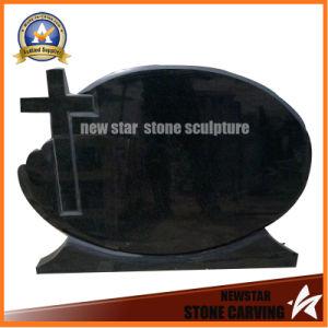 Cheap Black Granite Tombstone Memorial Sculpture pictures & photos