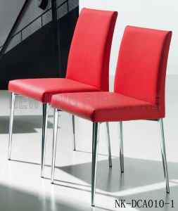New Fashion Red PU Leather Dining Chair with Armrest (NK-DCA003-1) pictures & photos