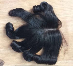 10/12/14/16/18/20 Inch Brazilian Virgin Human Hair Funmi Curly Lace Closure Lbh 004 pictures & photos