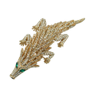 2016 New Style Gold Plated Rhinestone Pangolin Brooch pictures & photos
