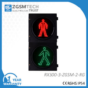 2 Colors LED Pedestrian Traffic Light with Stop and Walk Signal pictures & photos