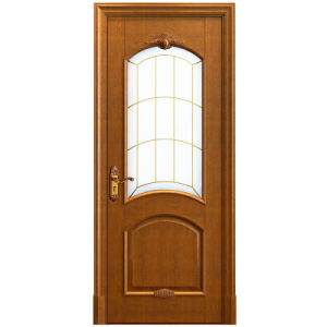 Oppein Simple Design Solid Wood Interior Swing Glass Door (MSSD10) pictures & photos
