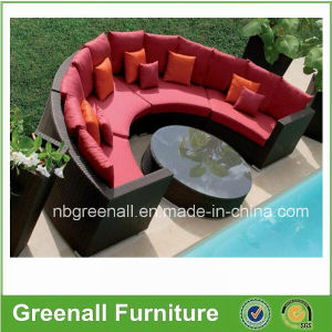 Semi-Round Rattan Outdoor Sectional Garden Sofa Wicker Furniture pictures & photos