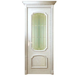 Oppein Modern White Solid Wood Interior Door with Glass (MSGD08) pictures & photos