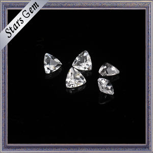 Bling Bling Triangle Shape Natural White Topaz for Jewellery pictures & photos