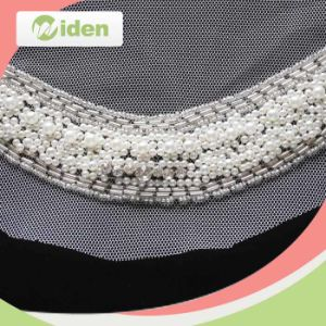 Free Sample Available Gray Color Mesh Lace Fabric Beaded Lace pictures & photos