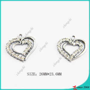 Zinc Alloy Silver Metal Heart Charm pictures & photos